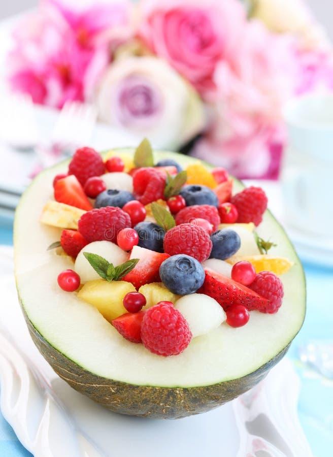 owocowa melonowa sałatka obraz stock