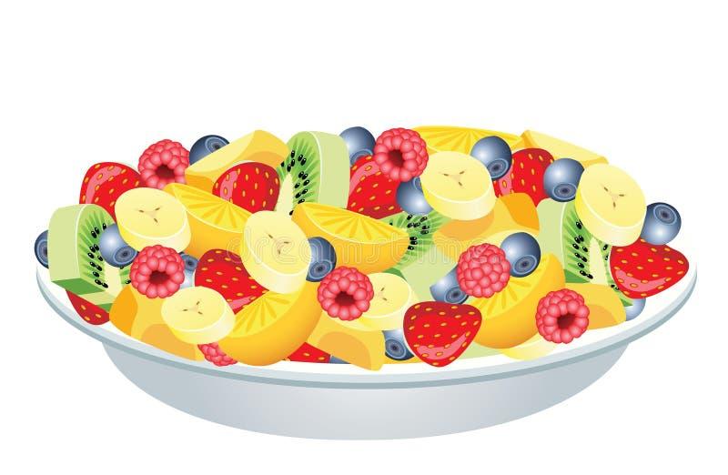 owocowa sałatka ilustracji