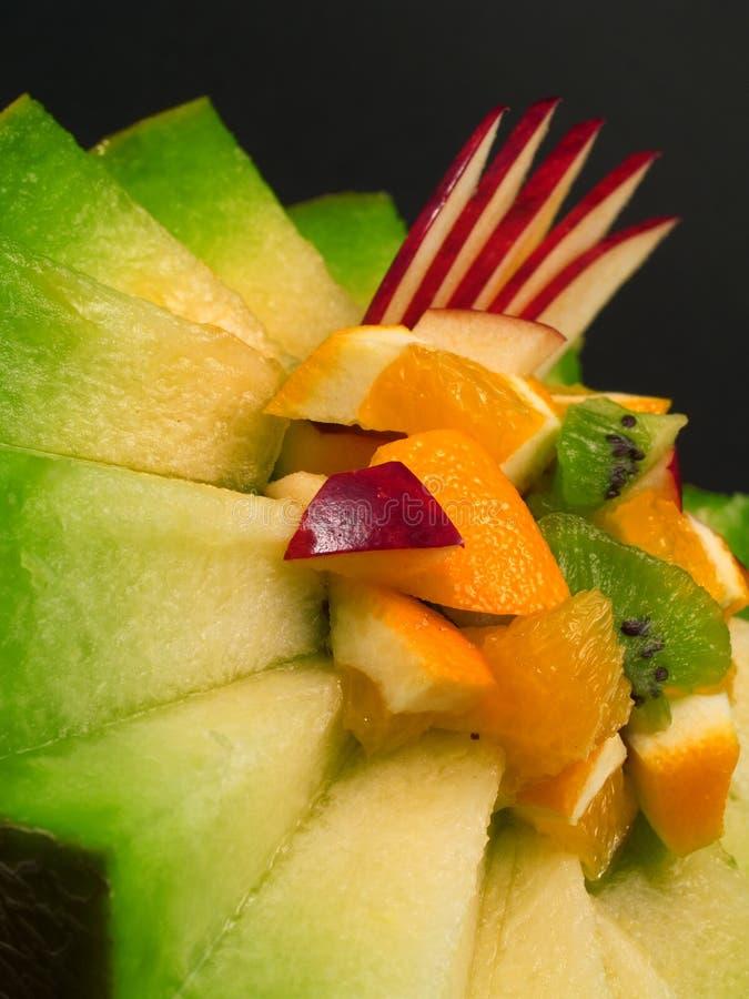 Owocowa sałatka w melonie obraz royalty free