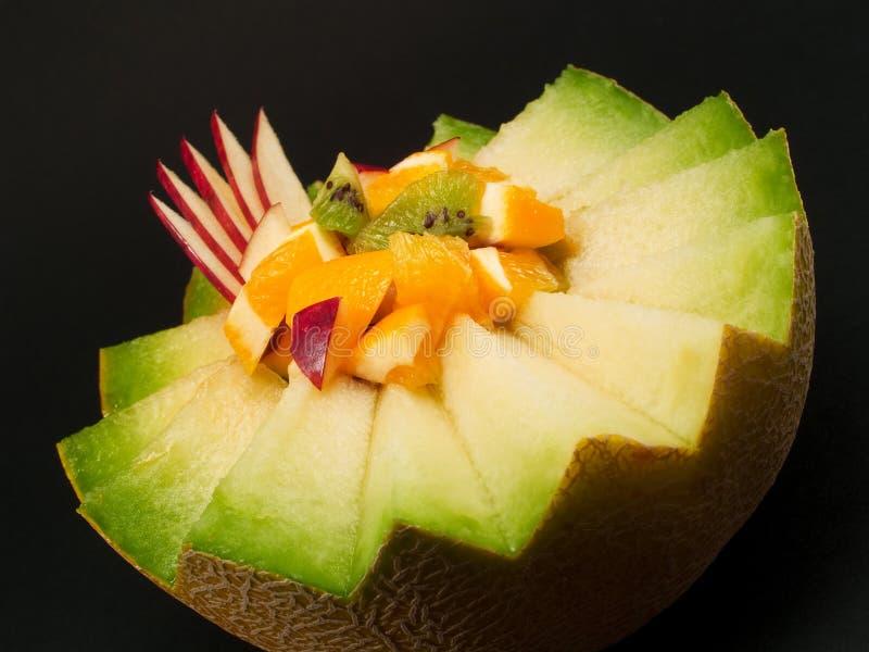 Owocowa sałatka w melonie zdjęcie royalty free