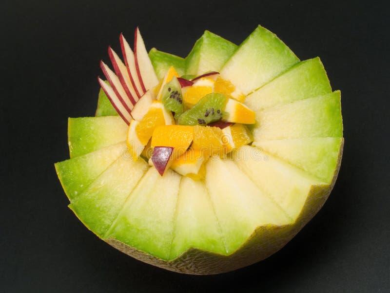 Owocowa sałatka w melonie obrazy royalty free