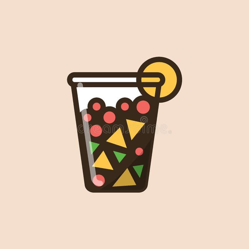 Owocowa sałatka w plastikowym zbiorniku royalty ilustracja