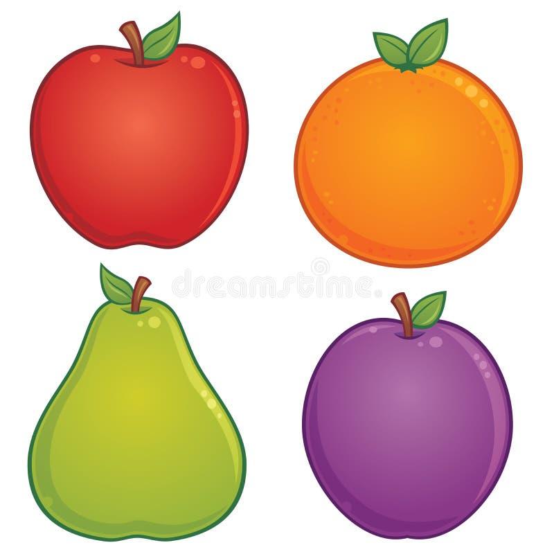 Download Owocowe ikony ilustracja wektor. Obraz złożonej z bonkreta - 18727413
