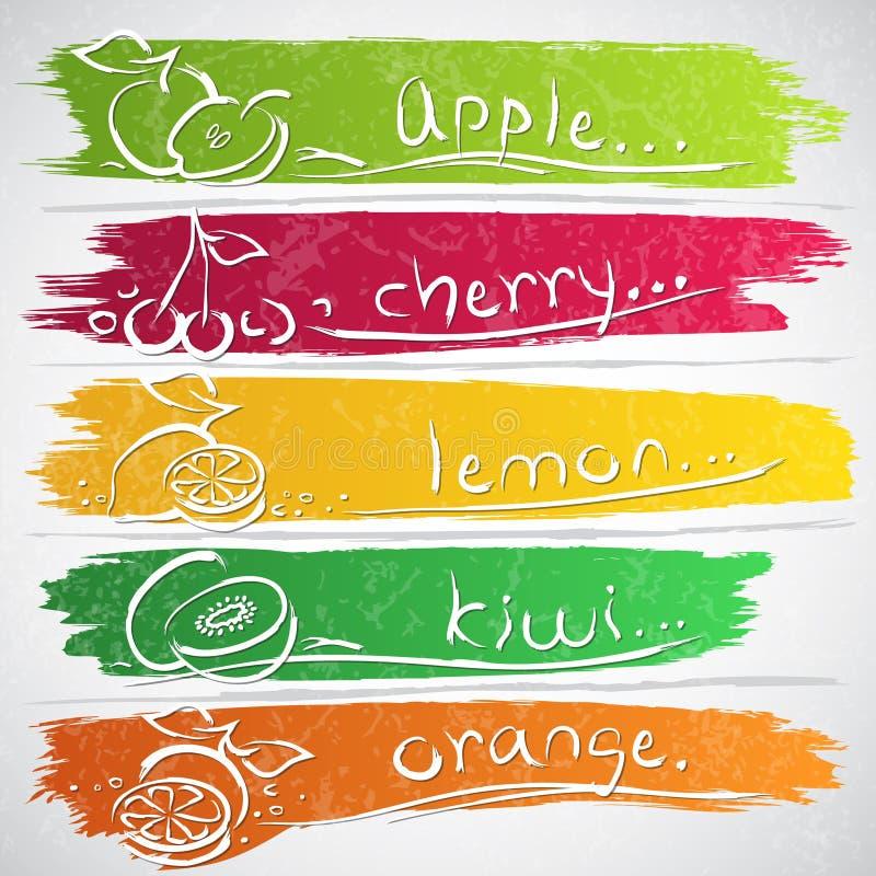 Download Owocowe ikony ilustracji. Obraz złożonej z świeży, odosobniony - 31230125