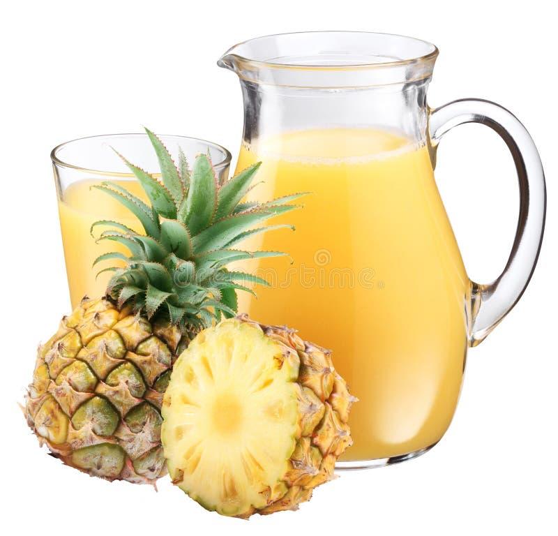 owocowego soku ananas fotografia stock