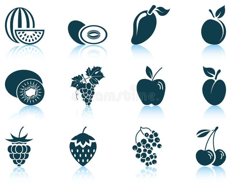 owocowej ikony ilustracyjny setu wektor ilustracji