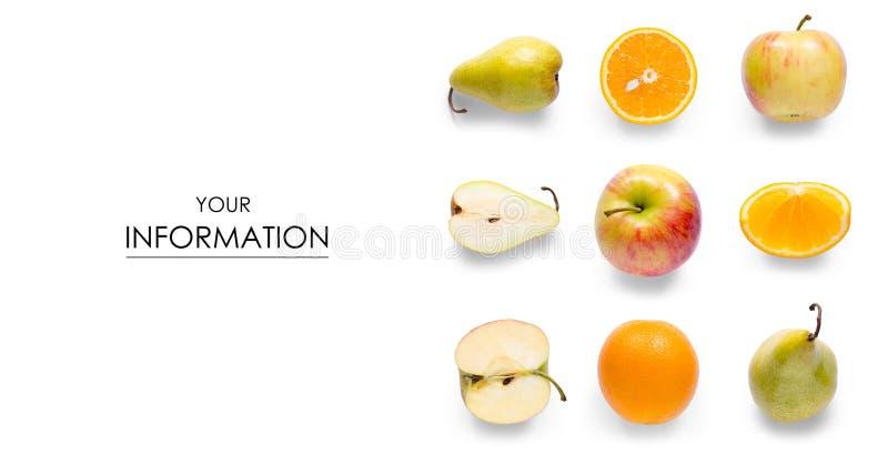 Owocowej jabłczanej pomarańczowej bonkrety bezszwowy wzór obrazy stock