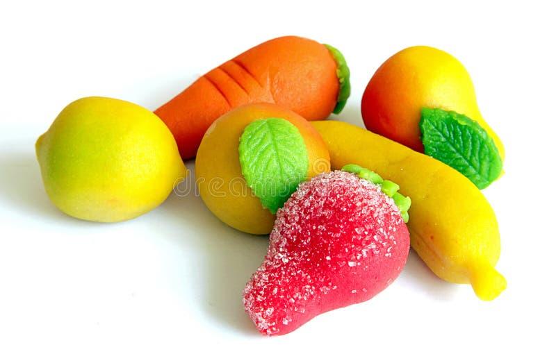 owocowi marcepany zdjęcia stock