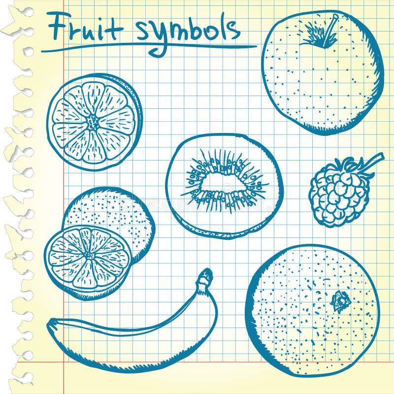 owocowi nakreślenia ilustracji