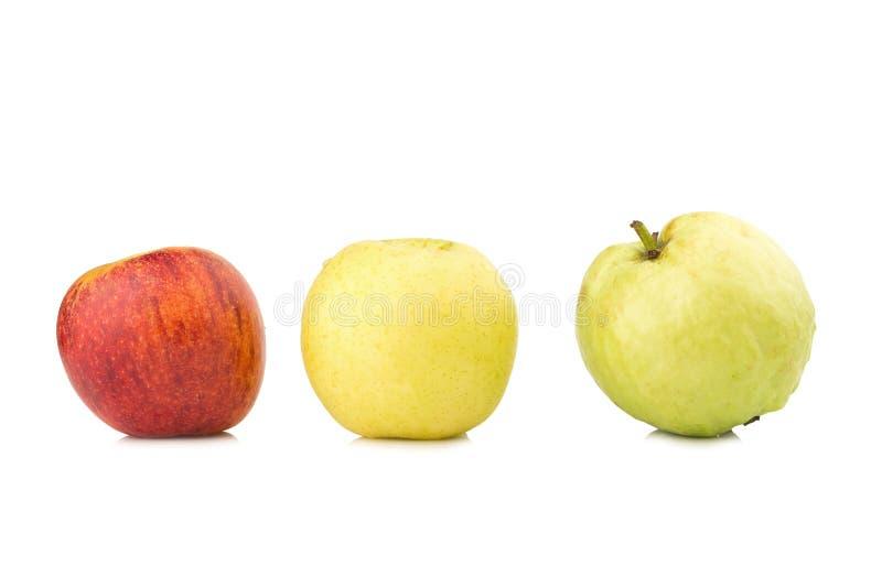 owocowy światła ruchu pojęcie jabłczanego tła odosobniony czerwony biel chiński bonkreta kolor żółty gua obrazy royalty free