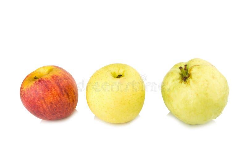 owocowy światła ruchu pojęcie jabłczanego tła odosobniony czerwony biel chiński bonkreta kolor żółty gua zdjęcia royalty free