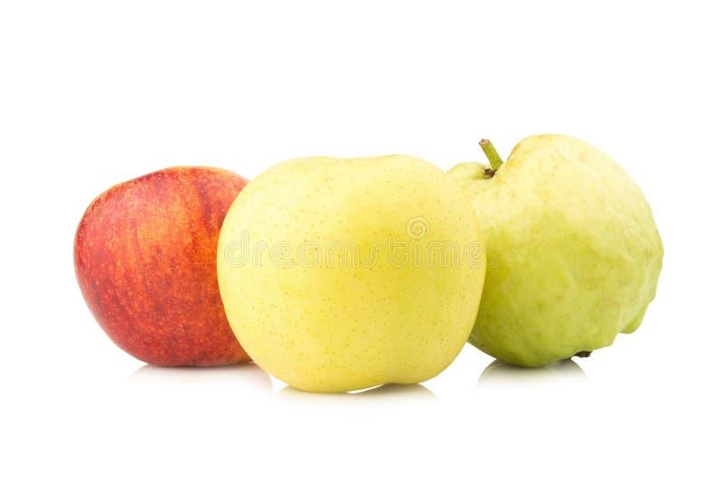 owocowy światła ruchu pojęcie jabłczanego tła odosobniony czerwony biel chiński bonkreta kolor żółty gua obraz royalty free