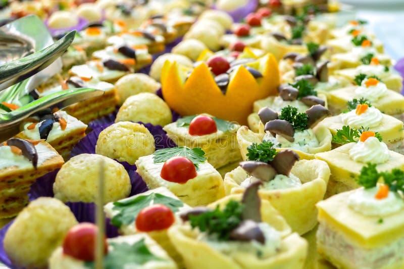 Owocowy cateringu jedzenie, zamyka up obrazy stock