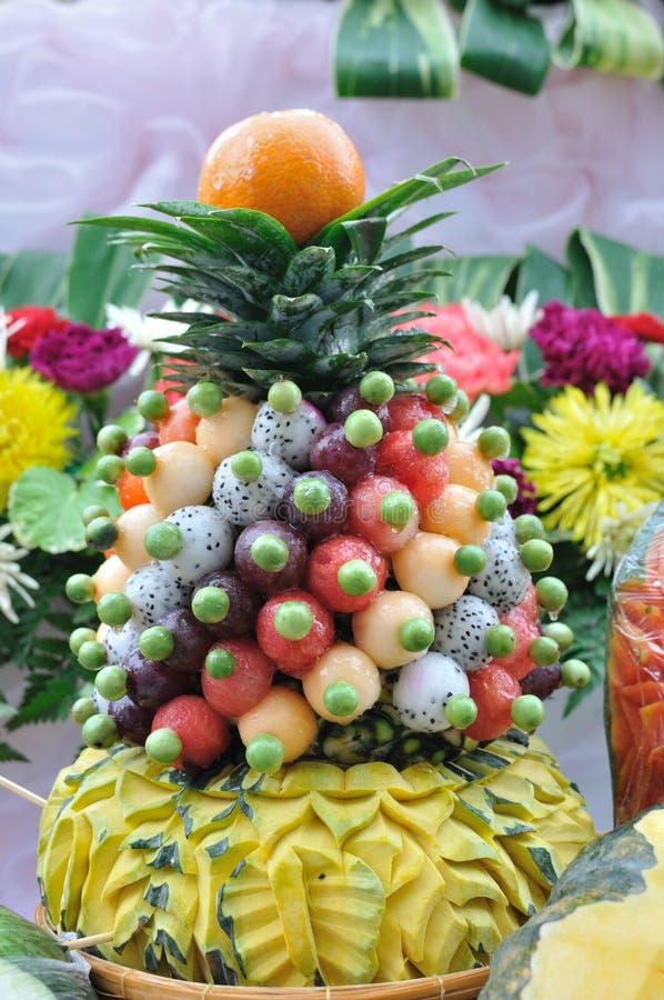 Owocowy cyzelowanie obraz royalty free