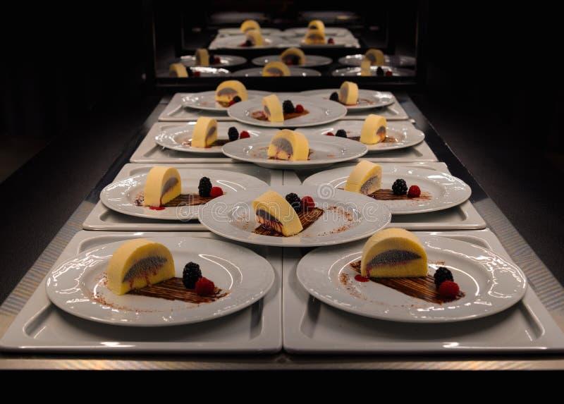 Owocowy deser w cateringu bufecie obrazy stock