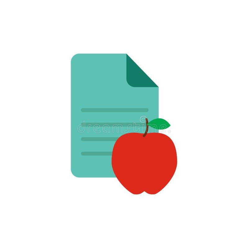 Owocowy dokumentu loga ikony projekt ilustracja wektor