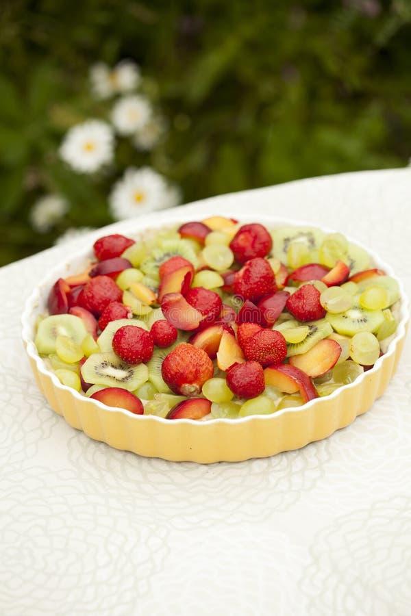 Owocowy i jagodowy kulebiak obraz royalty free