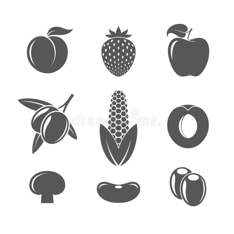 Owocowy i warzywa ilustracji