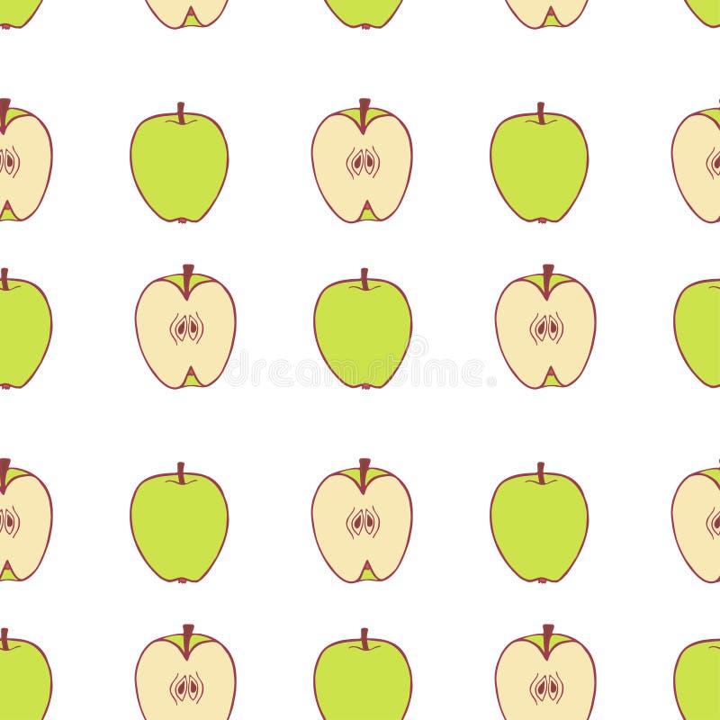 Owocowy jab?czany bezszwowy wz?r royalty ilustracja