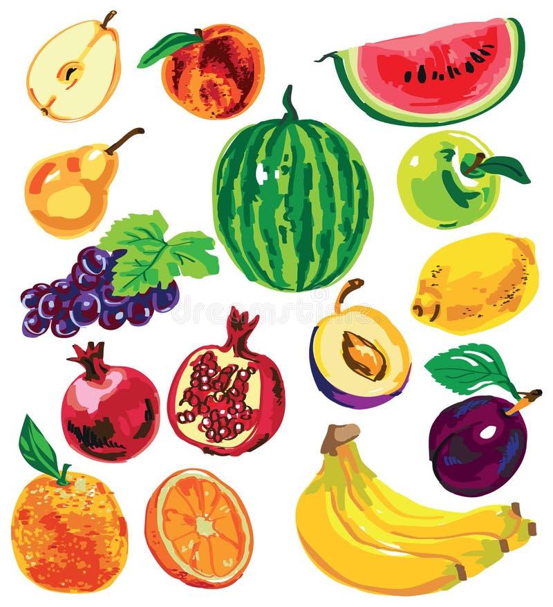 Owocowy kolor na białym tle ilustracji