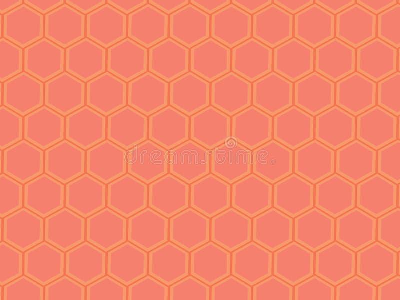 Owocowy Kolorowy sześciokąta wzór ilustracja wektor