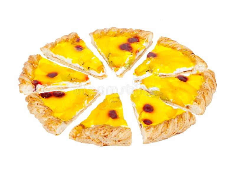 Owocowy kulebiak Równy części wiśnia i ananas obraz royalty free
