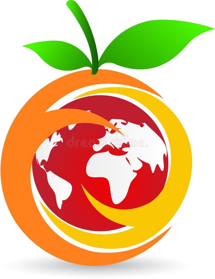 Owocowy logo ilustracji