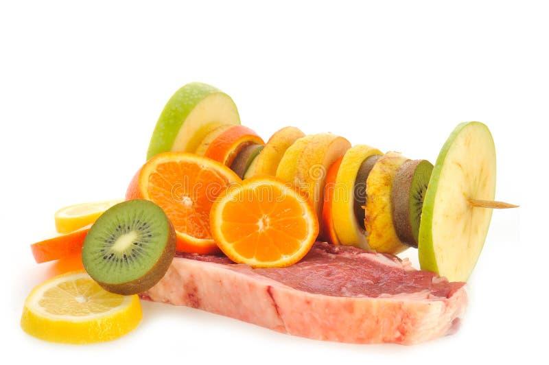 Download Owocowy mięso obraz stock. Obraz złożonej z kiwi, liść - 13335201