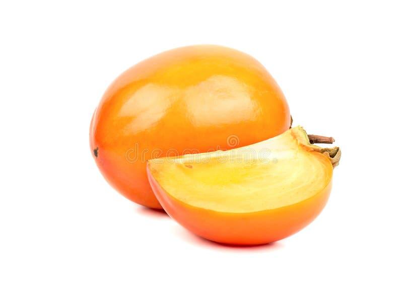 Owocowy persimmon z plasterkiem zdjęcia stock