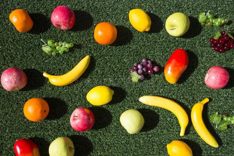 Owocowy pokazu tło obraz stock