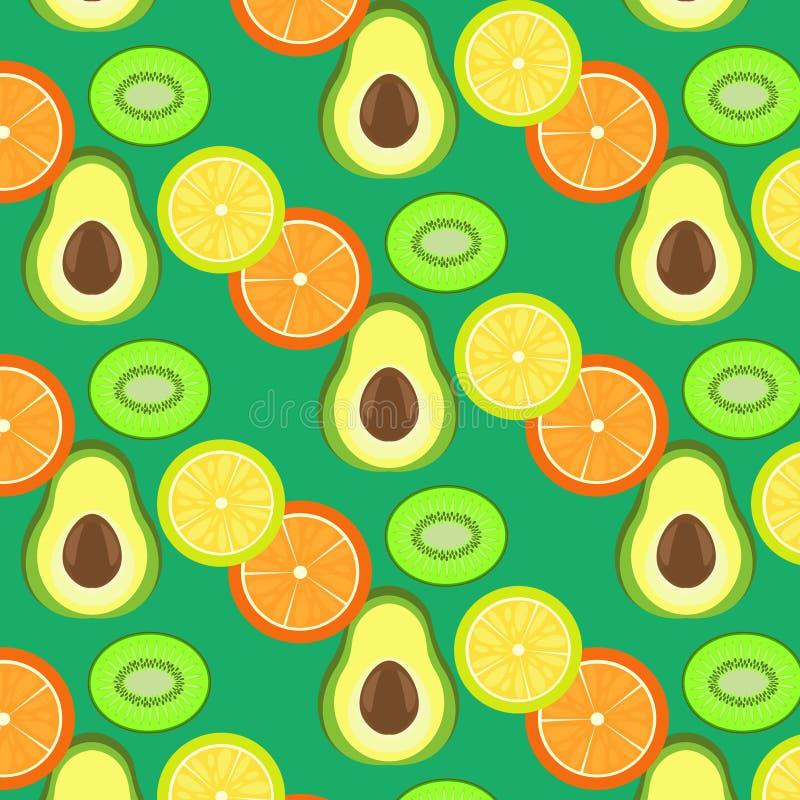 Owocowy sekcja wzór ilustracji