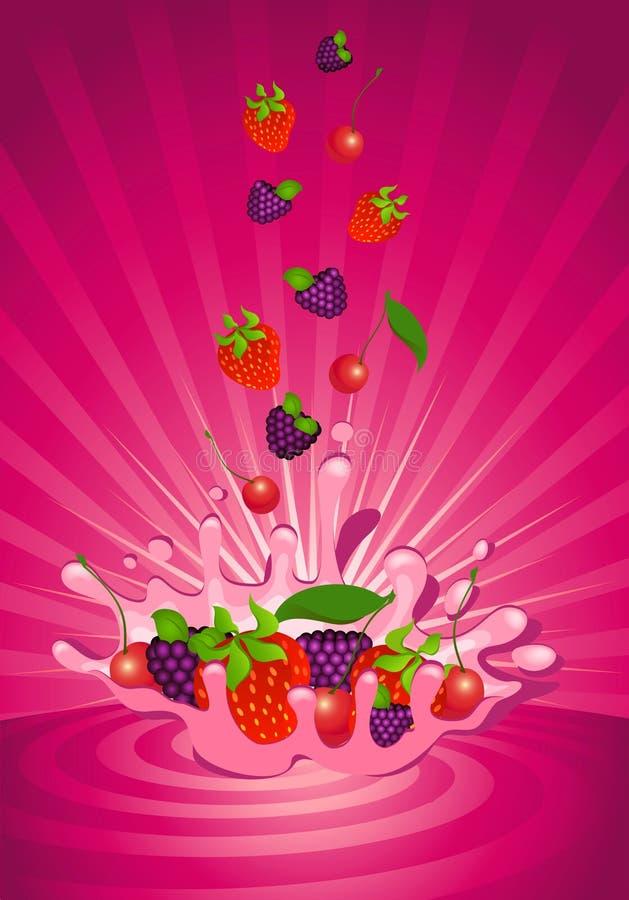 Download Owocowy smakowity jogurt ilustracja wektor. Obraz złożonej z życiorys - 13609198