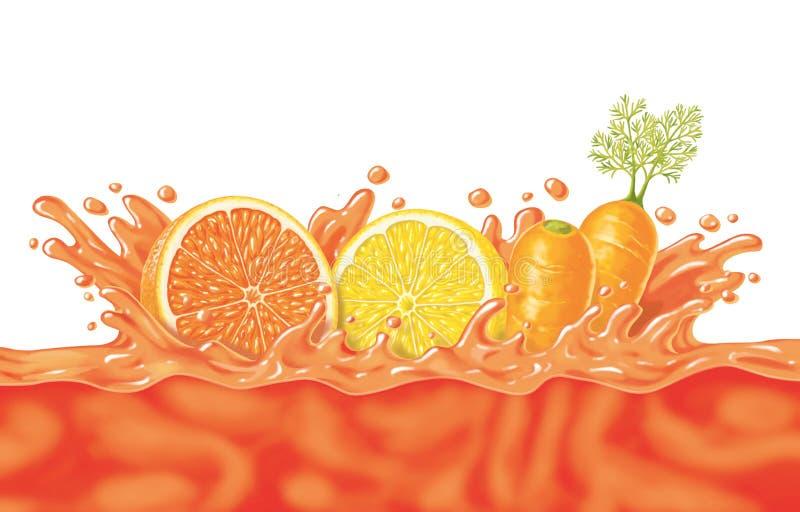 Owocowy sok ilustracja wektor