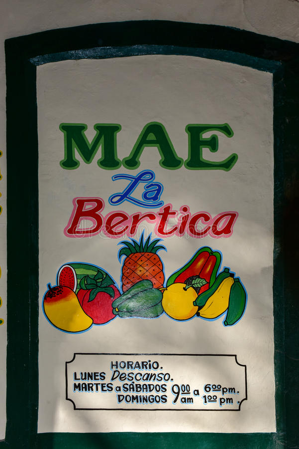 Owocowy stojak - Hawański, Kuba zdjęcia stock