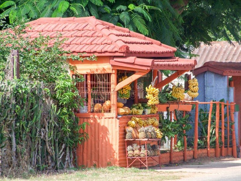 Owocowy stojak w Kuba obraz stock