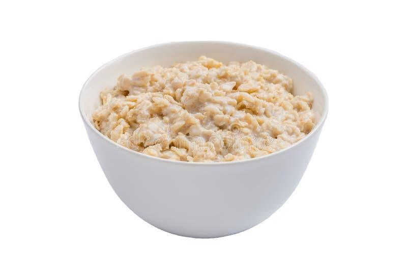 Owsianki oatmeal na białym tle odizolowywającym obrazy royalty free