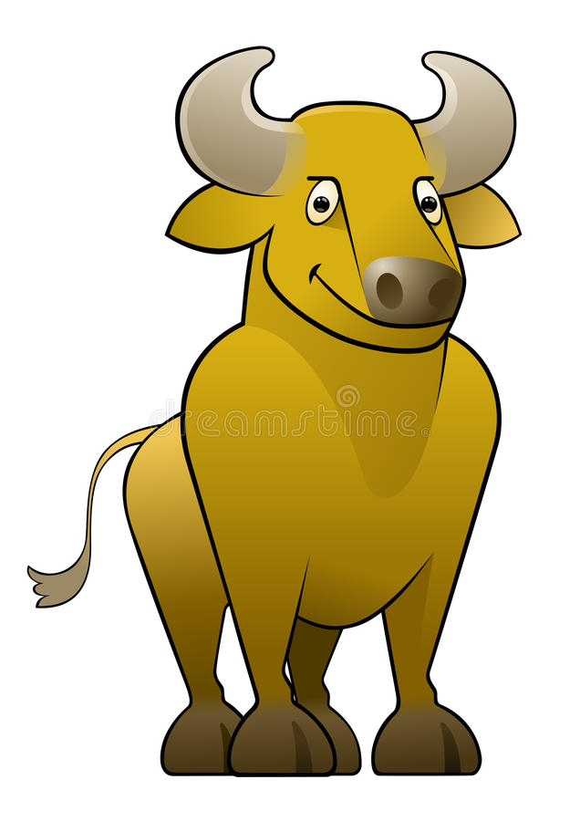 Ox/Bull amarillo stock de ilustración