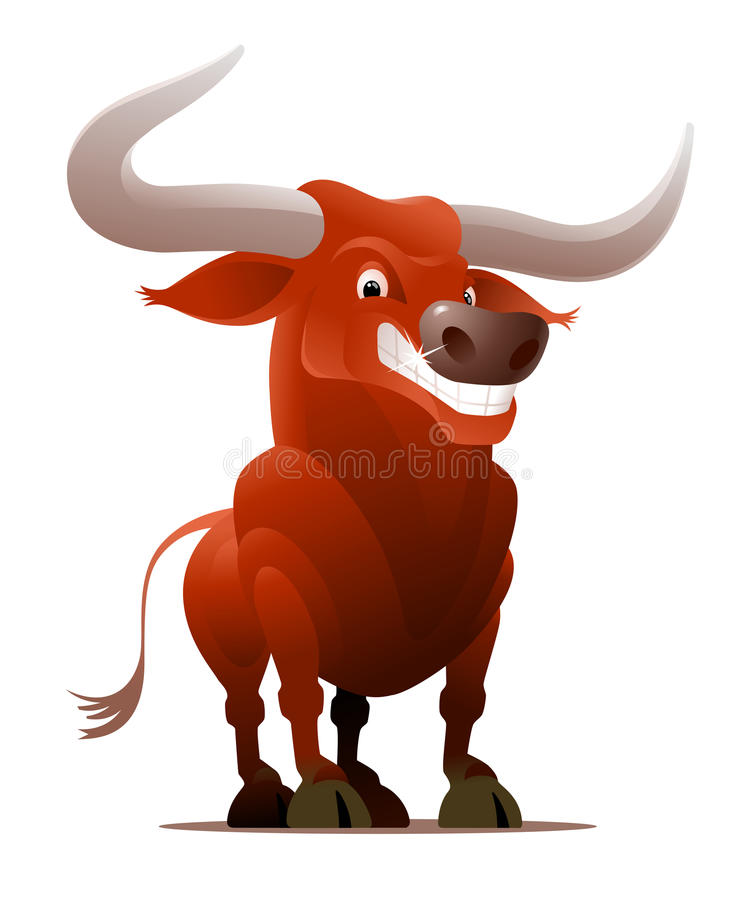 Ox/Bull vermelho ilustração stock
