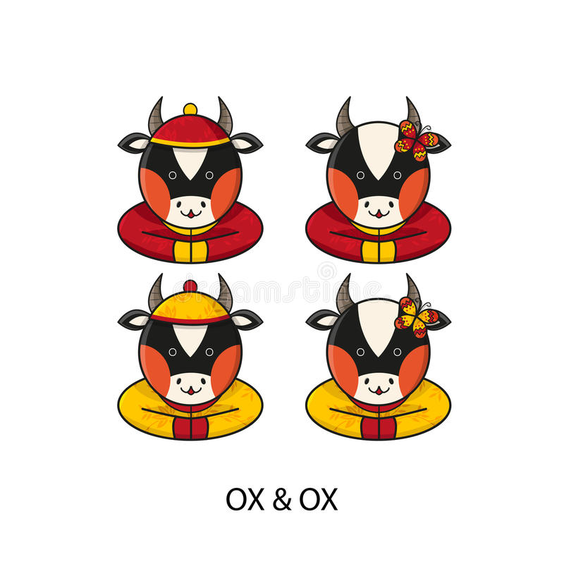 Ox Chinese Happy New Year royalty free illustration