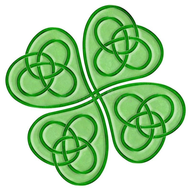 Oxalide petite oseille celtique illustration de vecteur