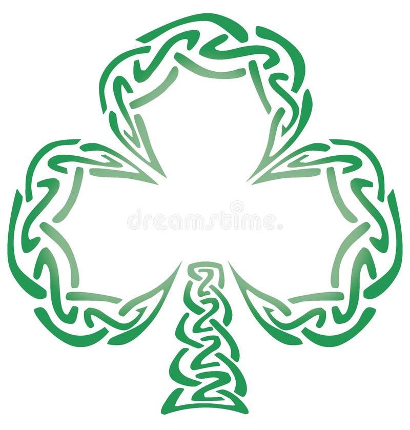 Oxalide petite oseille celtique de noeud illustration de vecteur