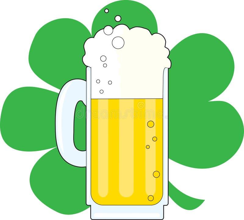 Oxalide petite oseille et bière illustration de vecteur
