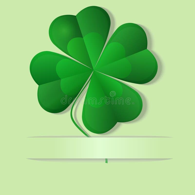 Oxalide petite oseille vert, trèfle de quatre feuilles, vecteur illustration stock