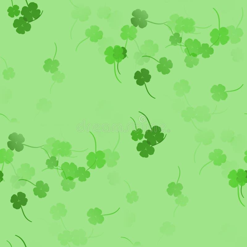 Oxalidex petite oseille verts - modèle sans couture illustration libre de droits