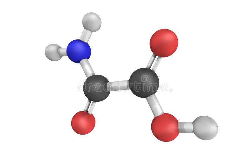 Oxamate, een zout van oxamic zuur stock afbeelding