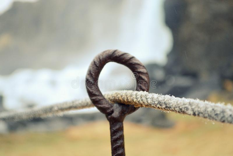 Oxararfoss瀑布在Pingvellir或Thingvellir国家公园 免版税图库摄影