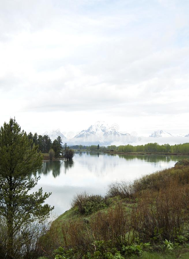 Oxbow Bend in Grand Tetons National Park royalty free stock images