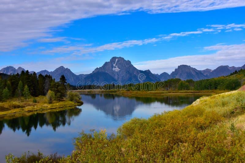 Oxbow-Biegung an gro?artigem Nationalpark Tetons lizenzfreie stockfotos