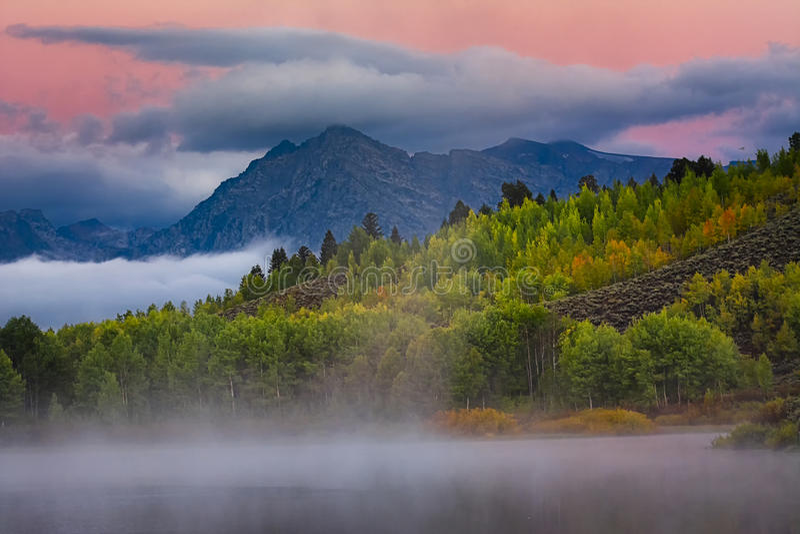 Oxbow-Biegungs-Sonnenaufgang lizenzfreies stockbild