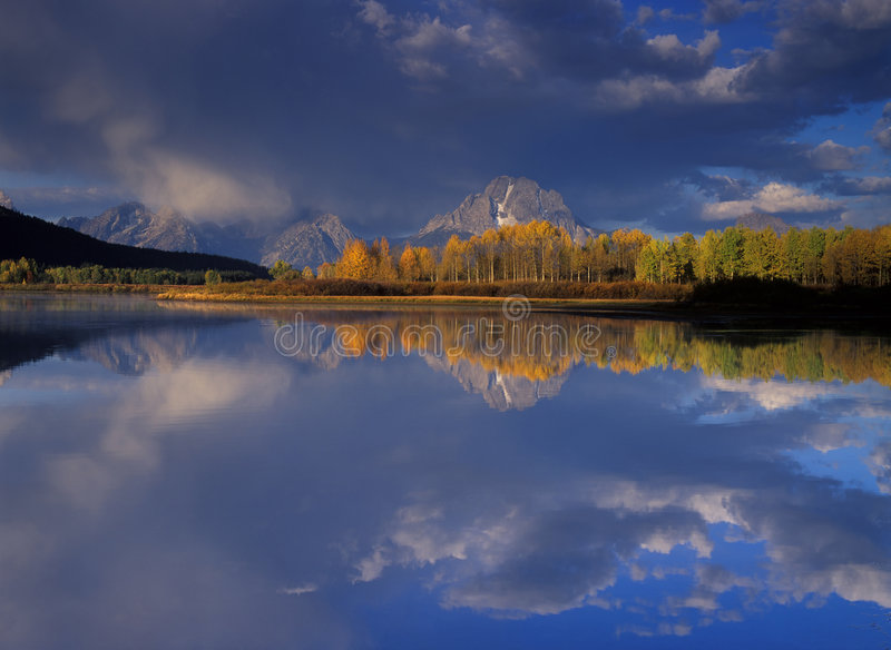 Oxbow in Fall royalty free stock photography